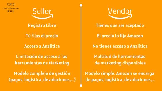 Diferencias entre Seller o Vendor